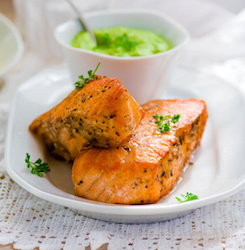 Low Carb Avocado Lime Salmon