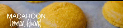 Lemony Almond Macaroons