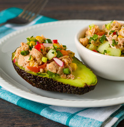 Avocado Salmon Boats