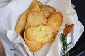Rosemary Almond Keto Crackers
