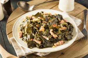 Bacon Braised Keto Collard Greens Recipe