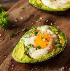 Keto Zone Baked Avocado Eggs