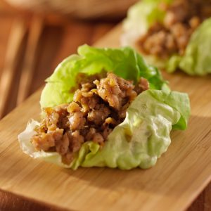 Keto Chicken Taco Lettuce Wrap