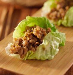 Keto Chicken Taco Lettuce Wrap