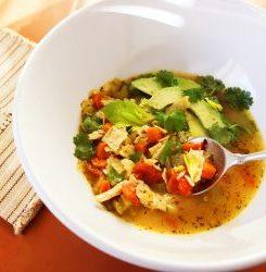 Keto Chicken Avocado Soup
