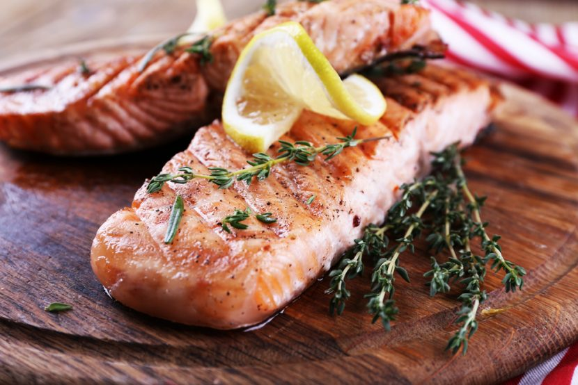 Keto Zone Grilled Salmon With Lemon and Herbs