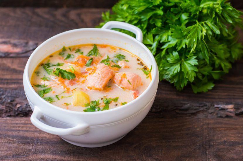 Nourishing Keto Zone Salmon Chowder