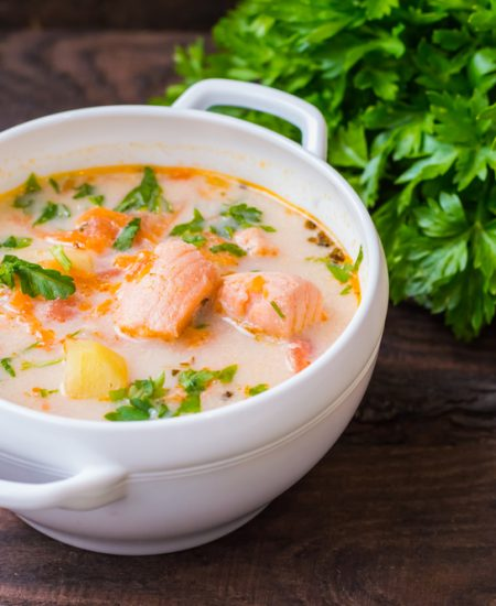 Nourishing Keto Zone Salmon Chowder