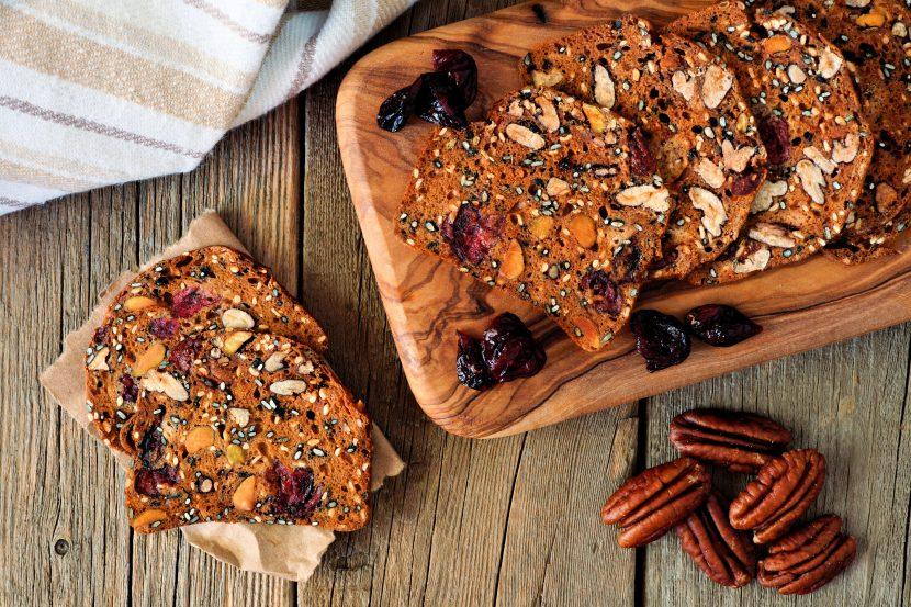 Keto Cranberry Pecan Crisps