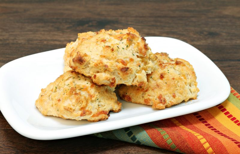 Cheesy Keto Rosemary Butter Biscuits
