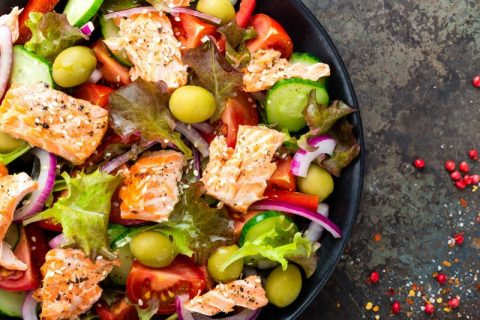 Keto Zone Summer Salmon Salad