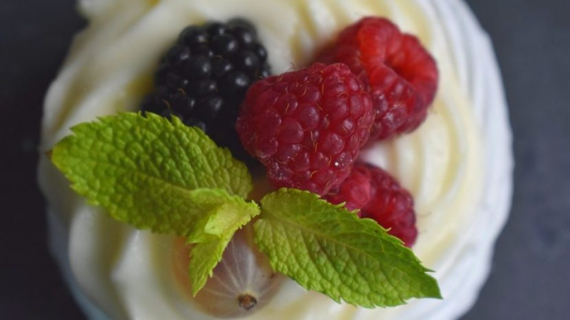 Independence Day Keto Zone Berries and Cream Dessert