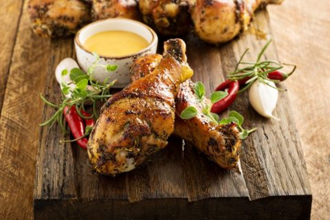 Grilled Chipotle Garlic Chicken Drumsticks