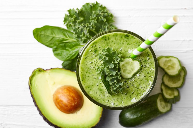 Keto Zone Green Smoothie with Probiotics