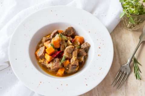 Autumn Butternut Squash and Pork Stew