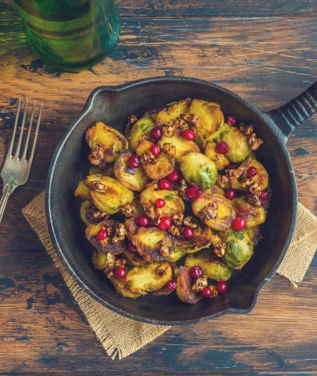 Cranberry Walnut Roasted Brussel Sprouts