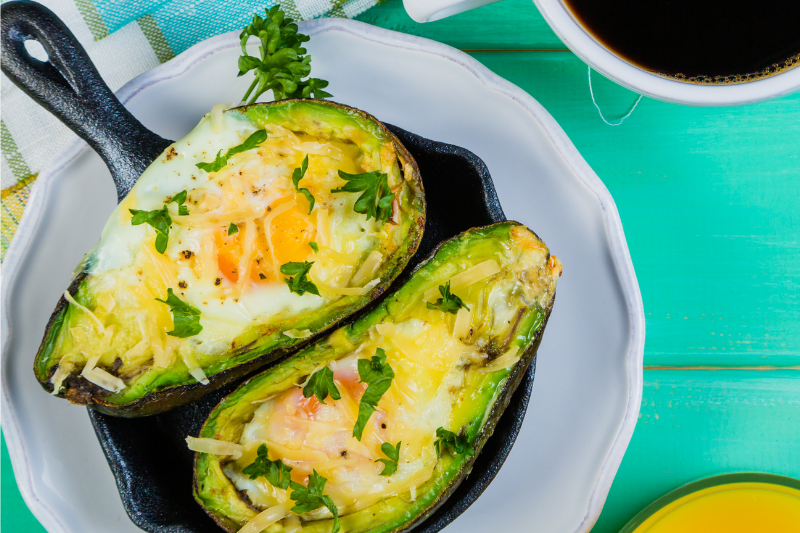 Keto Zone Baked Avocado Eggs